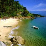 A secluded beach in Paraty, Brazil