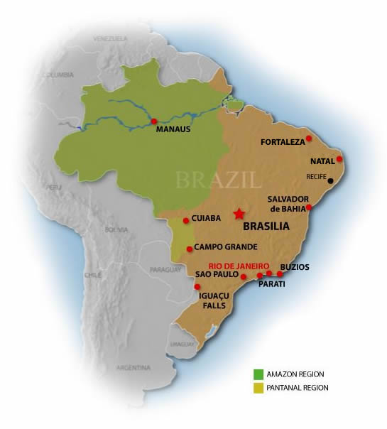 Brazil Travel Guide Brazil Map - Brazil map