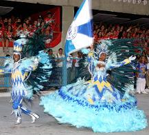 Samba Performers in Beautiful Carnival Costumes.
