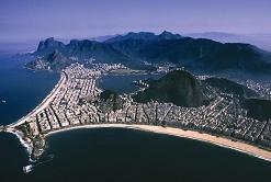 The Copacabana and Ipanema beaches in Rio