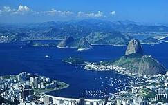 The famous view of Sugarloaf in Rio de Janeiro, Brazil